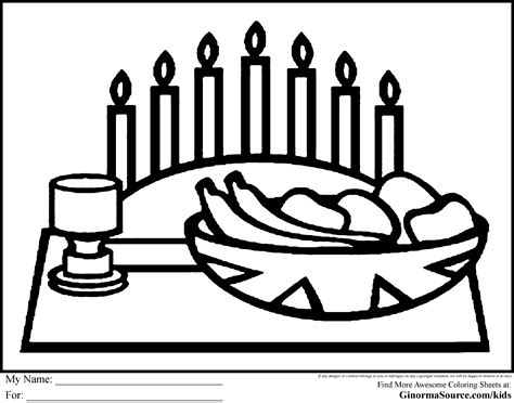 kwanzaa coloring pages meal school stuff pinterest