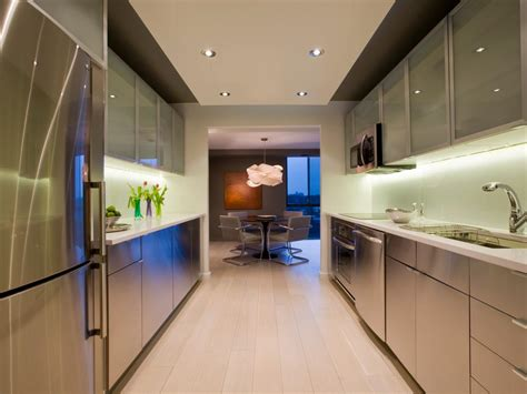modern galley kitchen design ytwho com galley kitchen designs hgtv