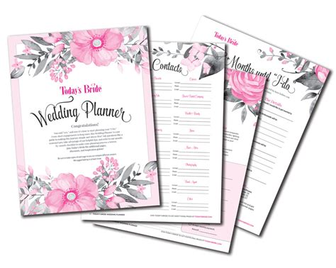 free printable wedding planner binder creating the perfect wedding planning binder today s bride