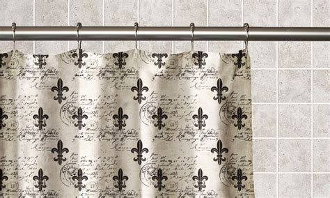 fleur de lis shower curtain fleur de lis shower curtain groupon goods