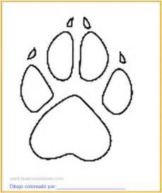 dibujo huella animal colorear imprimir
