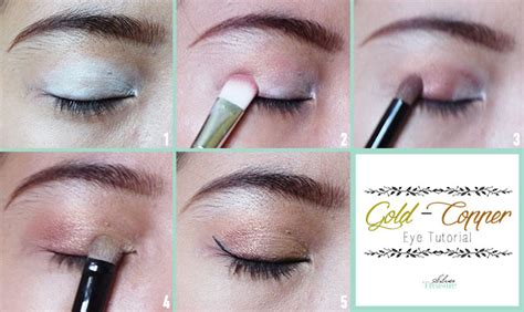 Eyeliner Tempelan fotd soft gold copper makeup tutorial silver