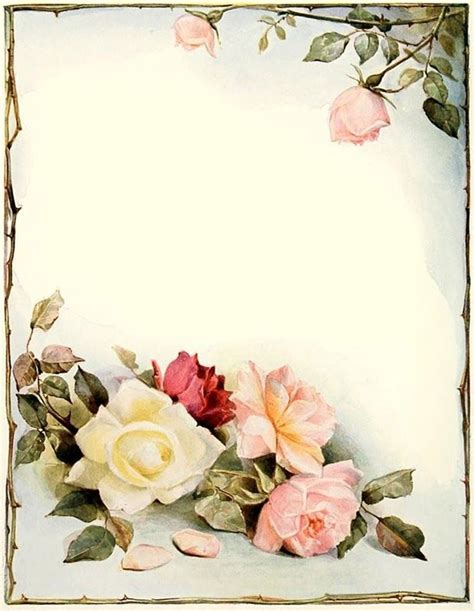 printable stationary with roses elegant pink white roses stationery printer paper 26