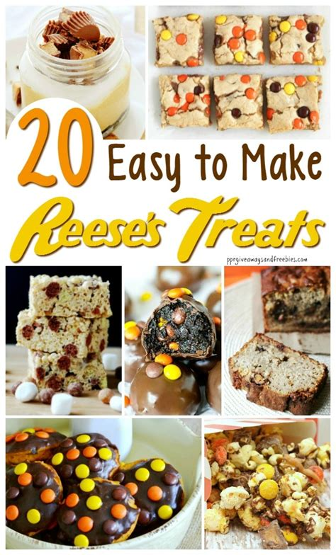 easy to make treats 20 easy to make reese s treats myfoodies recipes
