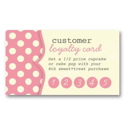 customer loyalty card template free polka dots customer loyalty business card