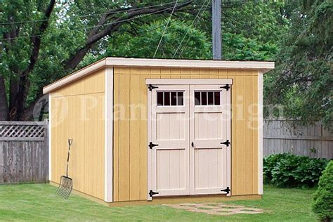 storage shed plans 8 x 10 deluxe modern roof style