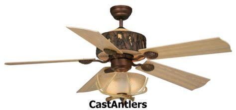 antler chandelier ceiling fan standard size fans 52 quot woodlands rustic faux antler