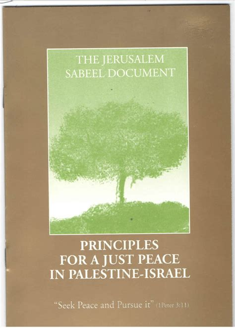 in pursuit of peace in israel and palestine books books sabeel ecumenical liberation theology center