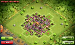 coc strong base structures for lvl6 townhall clash of clans layouts for farming and clan wars