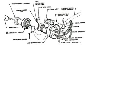 technical ignition switch wiring diagram 1955 2 chevy