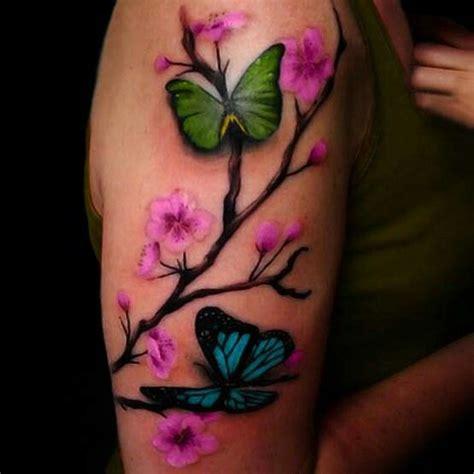 butterfly tattoo cherry blossom cherry blossom butterfly tattoo tattoo pinterest