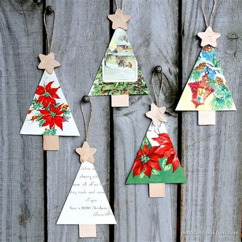 tree handmade ornaments how to make ornaments from vintage cards