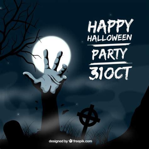 editar imagenes halloween online invitaci 243 n de fiesta de halloween con una mano zombie