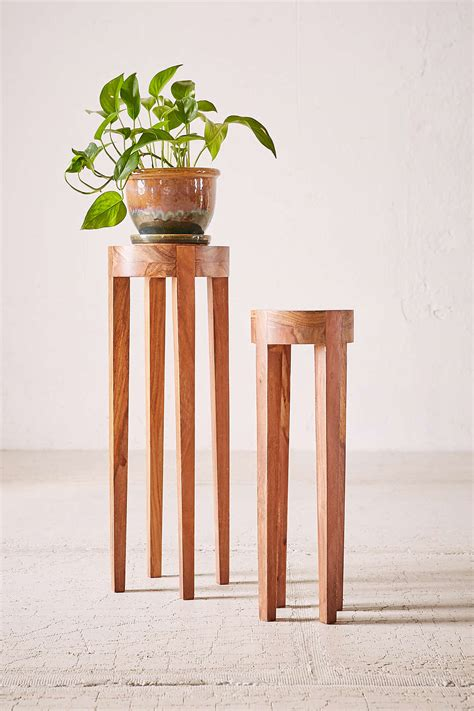 Wooden Plant Pedestal columns pedestals and other tables