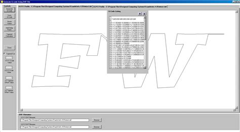 Drawing G Code Program by Foamworks 4 0 Generate G Code Menu