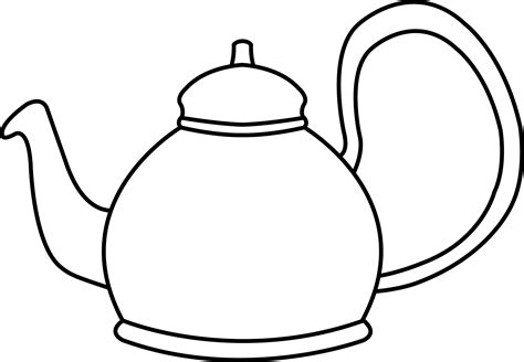 teapot coloring page teapot coloring page clipart best