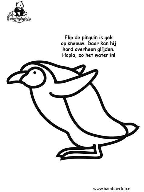 Kleurplaat Pinguin - Bamboeclub - Kleurplaten.nl