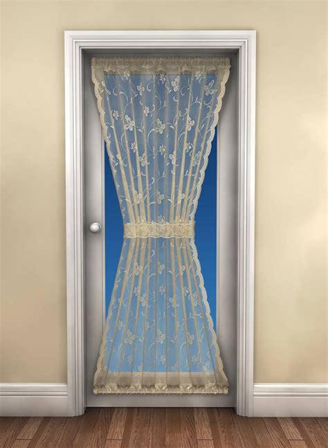 butterfly white door curtain 183cm drop x 114cm wide net