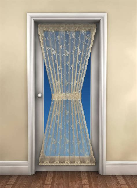 curtain drop butterfly white door curtain 183cm drop x 114cm wide net