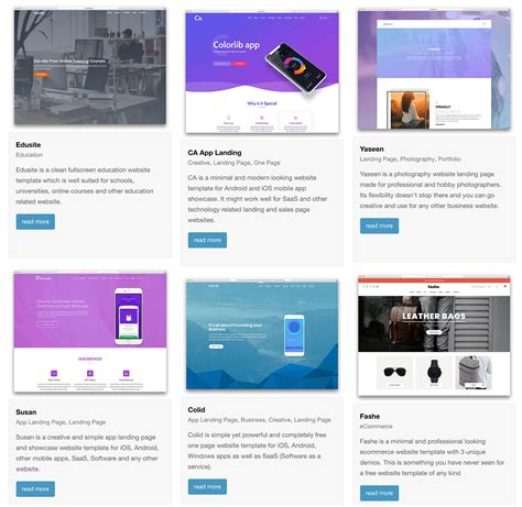 powerpoint templates for web pages 30 top free bootstrap 4 website templates 2018 colorlib