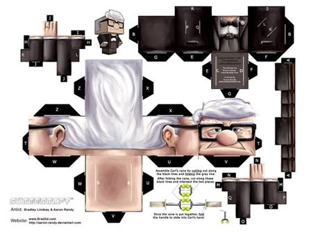 Up Papercraft - carl fredricksen by aaron randy on deviantart
