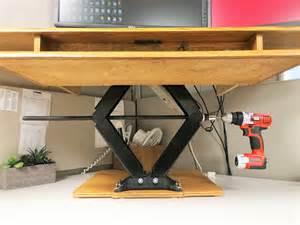 Height adjustable standing desk youtube