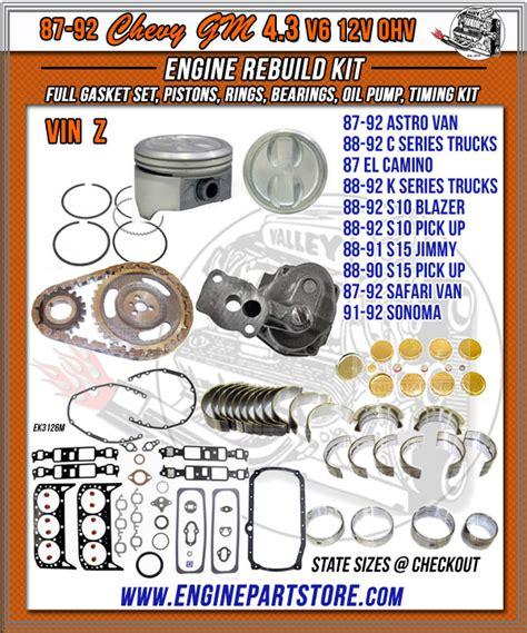 chevy gm  engine rebuild kit engine builder auto machine shop  los angeles