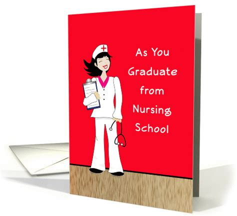 congratulations on nursing school nursing school graduation card for female retro girl clip