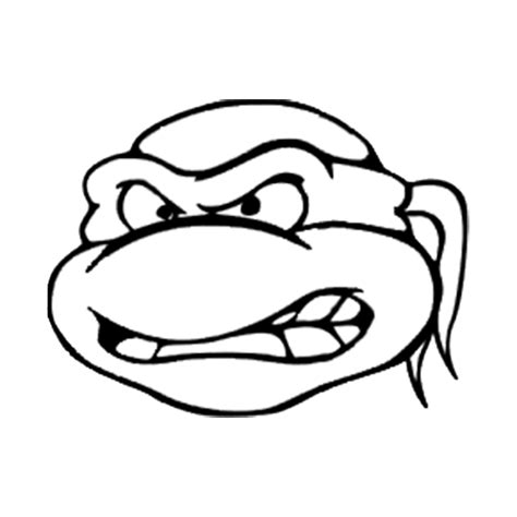 ninja turtles face coloring page 500px