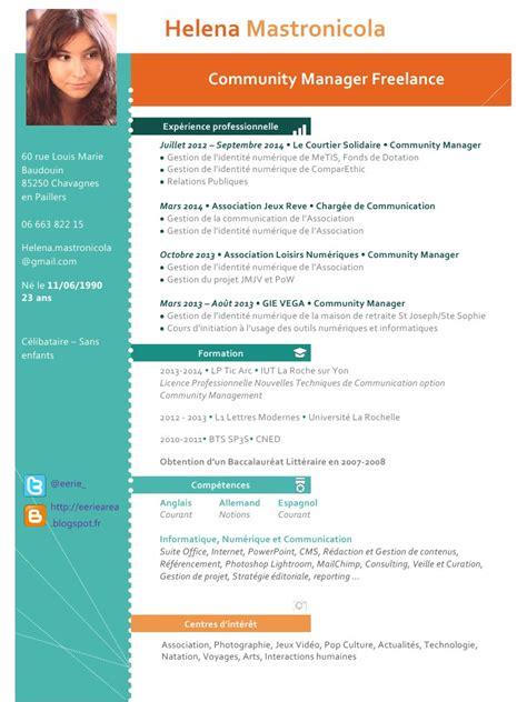 Télécharger Mise En Page Cv by Resume Format Pr 233 Sentation Cv Moderne