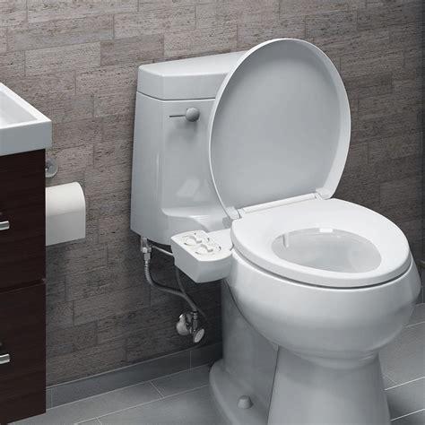 combined toilet and bidet system brondell freshspa dual temperature bidet toilet attachment
