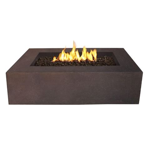 Rectangular Gas Pit Real Baltic 51 In Rectangle Gas Outdoor