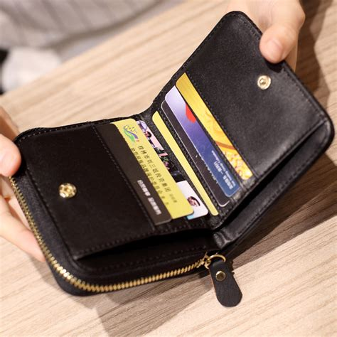 small zipper small zipper wallet card holder with coin purse for