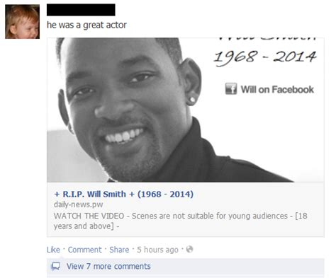 Smith Dead by Will Smith Hoax 2014 Message Claims Actor