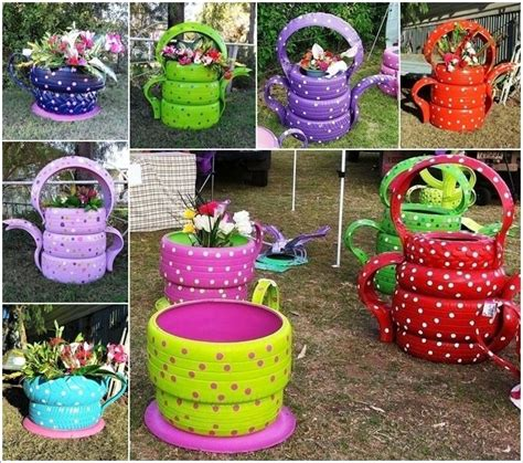 Garden Crafts by 25 Best Ideas About Recycled Garden Crafts On