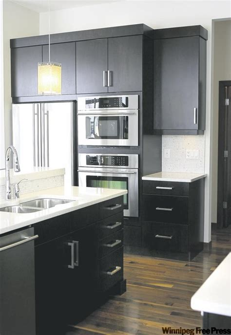 kitchen cabinet drawer layout future dream home third dark expresso cabinets topped with white quartz