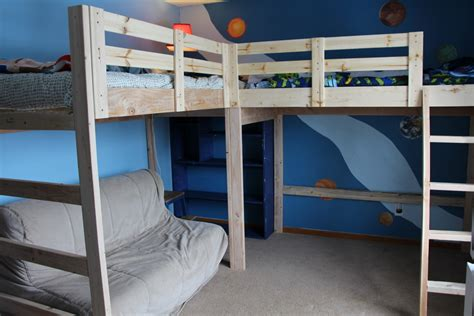 L Shaped Loft Bunk Bed Build L Shaped Bunk Bed Plan Easy Ways Atzine