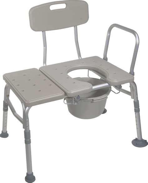 toilet bench combination plastic transfer bench with commode opening