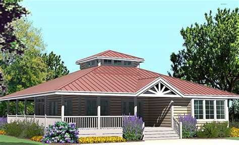 Hip Roof Porch Plans by Hip Cottage With Wrap Around Porch 1423 Sf Southern