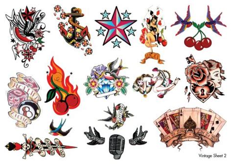 vintage style tattoo designs winehouse temporary tattoos temporary tattoos