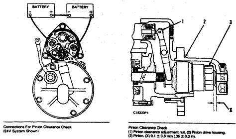 caterpillar starter wiring diagram starter motor relay