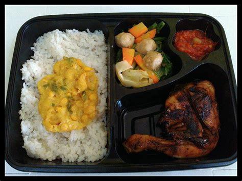paket nasi box bento ayam rempah jogja