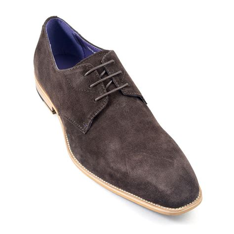 shop brown suede derby shoes gucinari