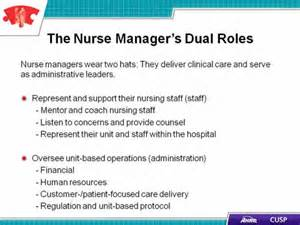 Director Of Nursing Responsibilities by Cusp Toolkit The Of The Manager Facilitator Notes Agency For Healthcare Research