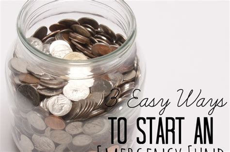 how to start an emergency fund financialpeace everyday