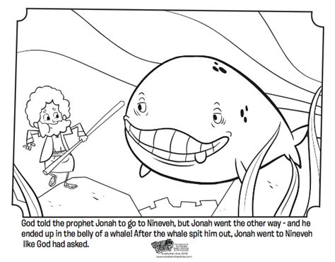 Jonah And The Whale Bible Coloring Pages What S In The Jonah And The Big Fish Coloring Page