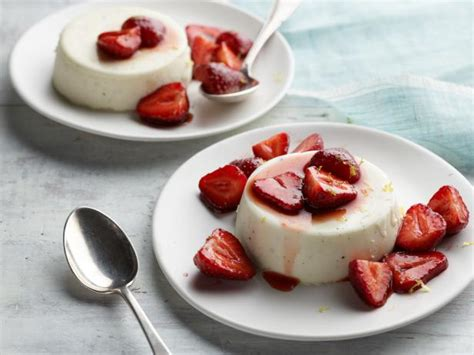 panna cotta ina garten panna cotta with balsamic strawberries recipe ina garten