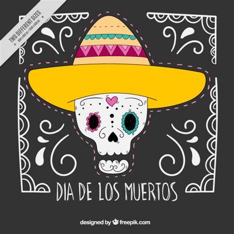 quiero descargar imagenes de calaveras simp 225 tico fondo de calavera mexicana con sombrero