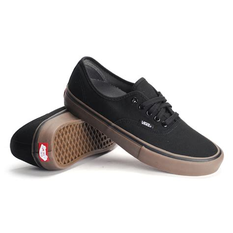 Wakaii Shoes vans authentic pro canvas black gum s skate shoes ebay