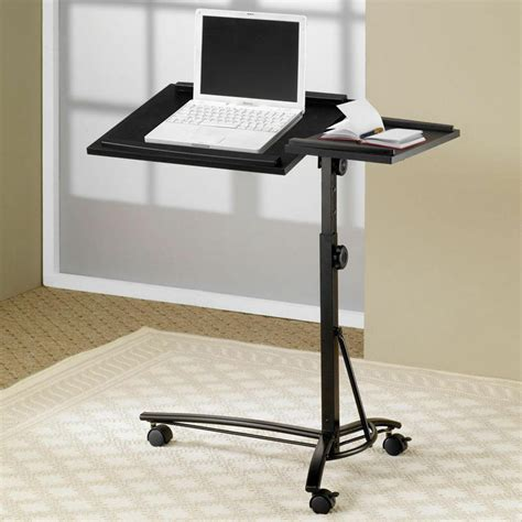 Swivel Laptop Stand For small smart adjustable height swivel top black computer